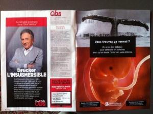 Publicité de la fondation Jérôme-Lejeune